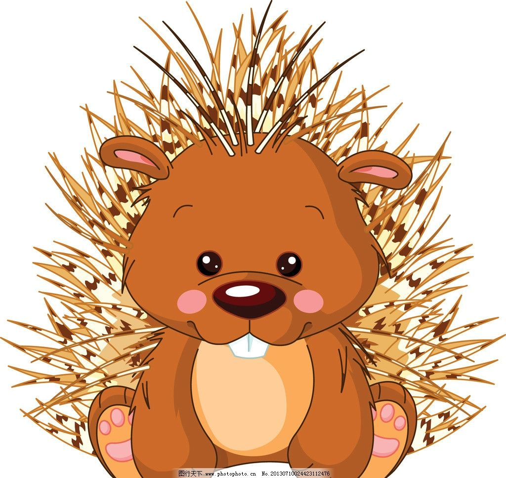 卡通动物 刺猬 野生动物 手绘动物 矢量素材 矢量 eps 生物世界 eps