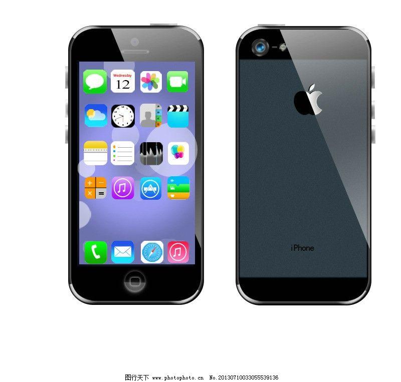 苹果手机 苹果ui图标 屏幕界面 ui图标 苹果图标 psd分层素材 源文件