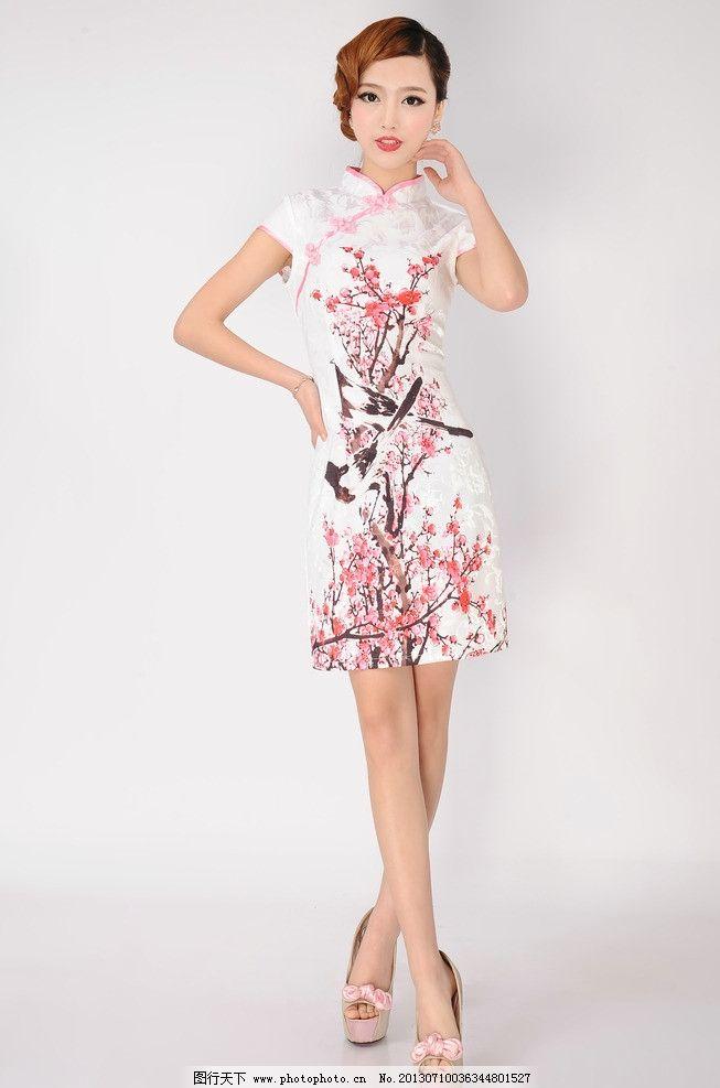 旗袍美女模特图片