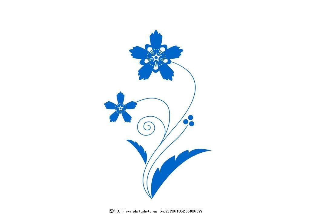 手绘图案 对称纹样 手绘花卉 花纹 底纹 现代花纹 新颖图案 装饰图案
