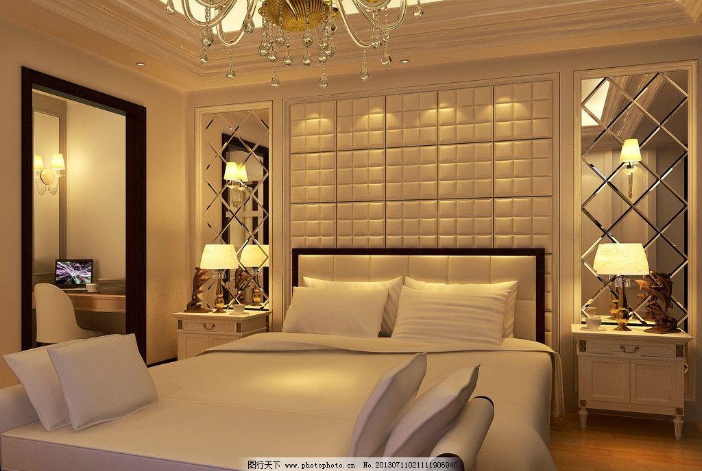 欧式 卧室 背景墙 床头背景墙