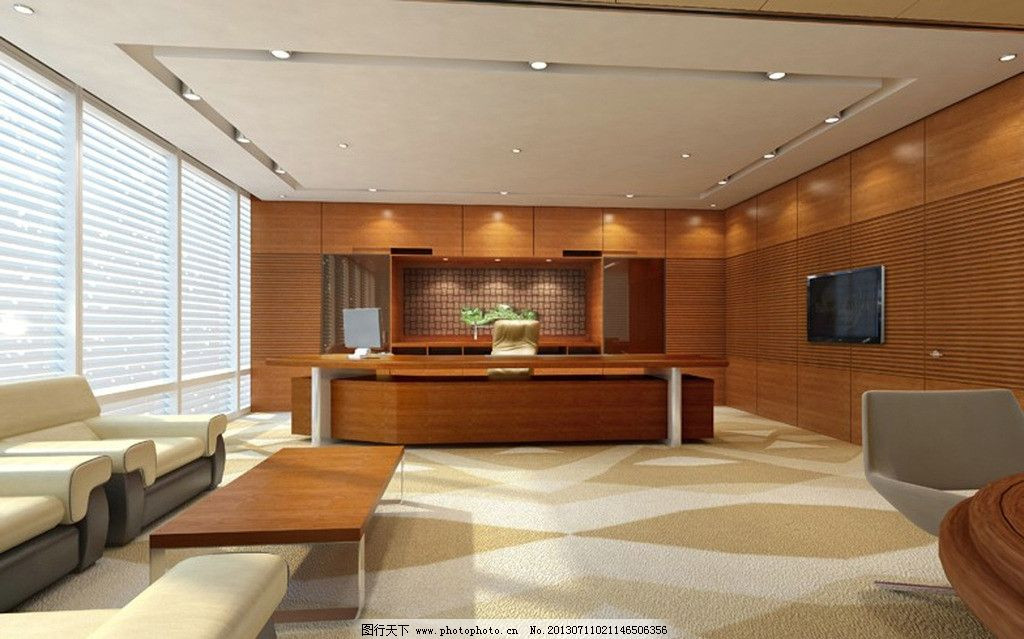 办公室 装修 效果图 源文件 室内模型