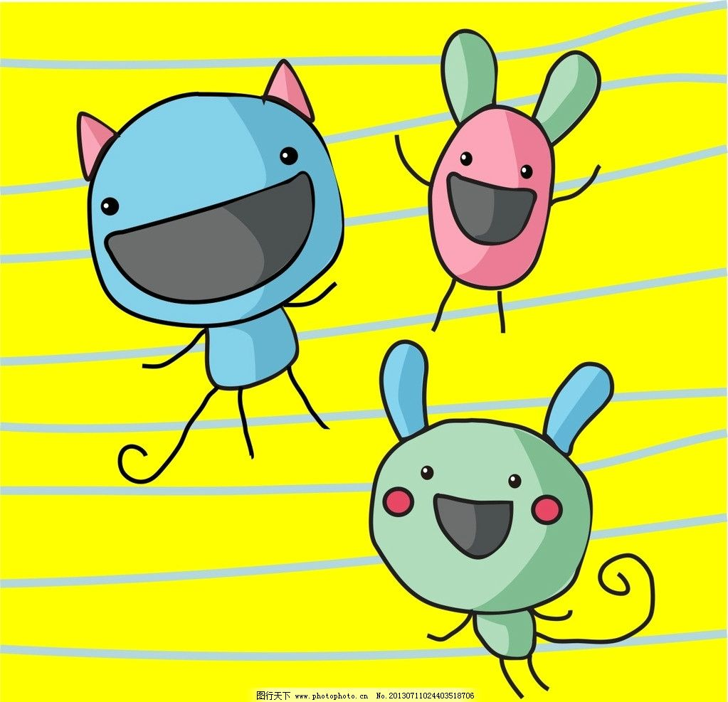 3个小动物图片