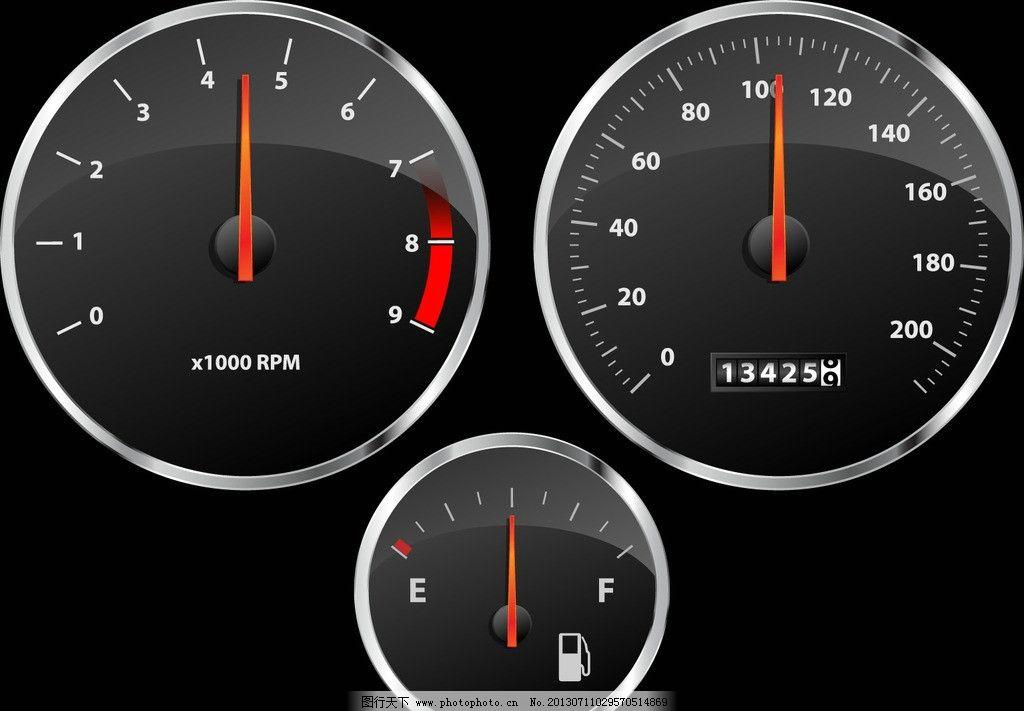仪表 汽车仪表矢量素材 仪表矢量素材 汽车仪表      表盘 压力表