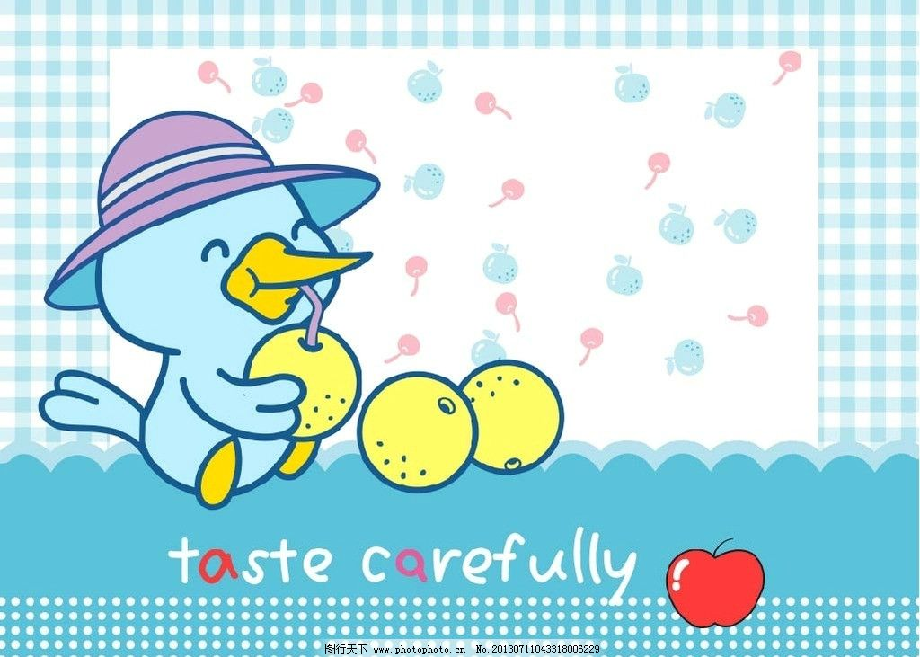可爱小鸭子桌面ai图片