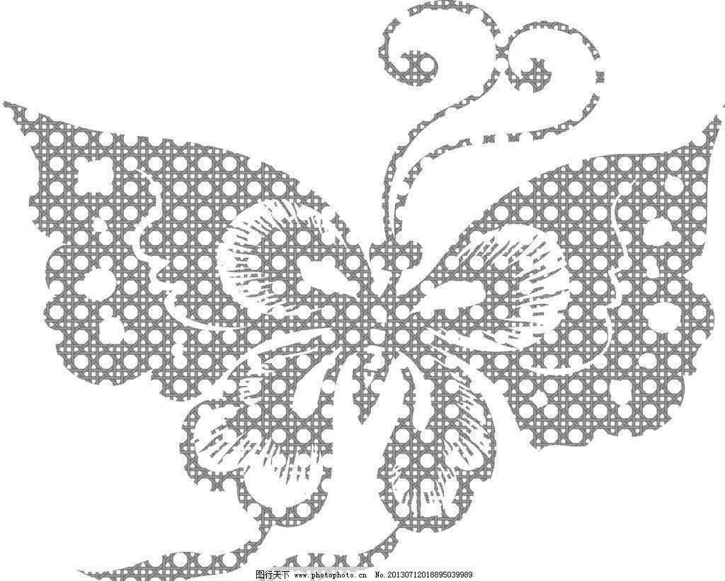 蝴蝶剪纸图案 蝴蝶 素材 创意 剪纸 花卉应用 背景 题材 原创设计