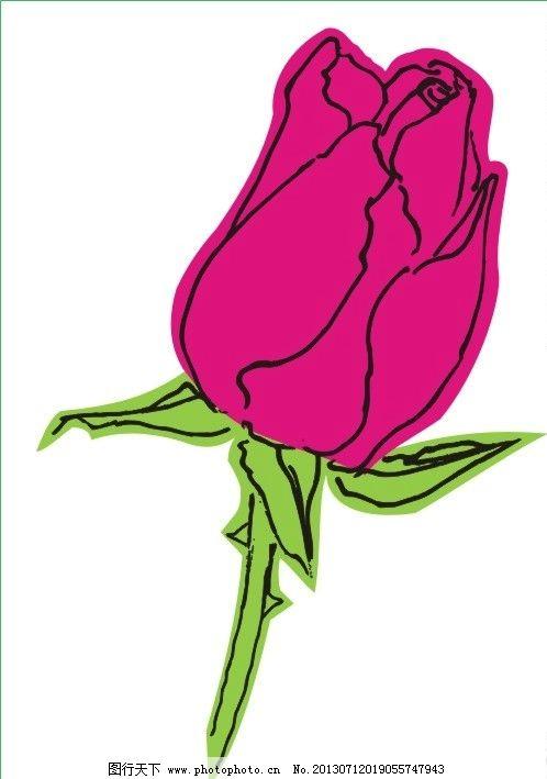 手绘矢量图红玫瑰花苞 手绘 矢量图 红玫瑰 花苞 花朵 爱情 花卉 美术
