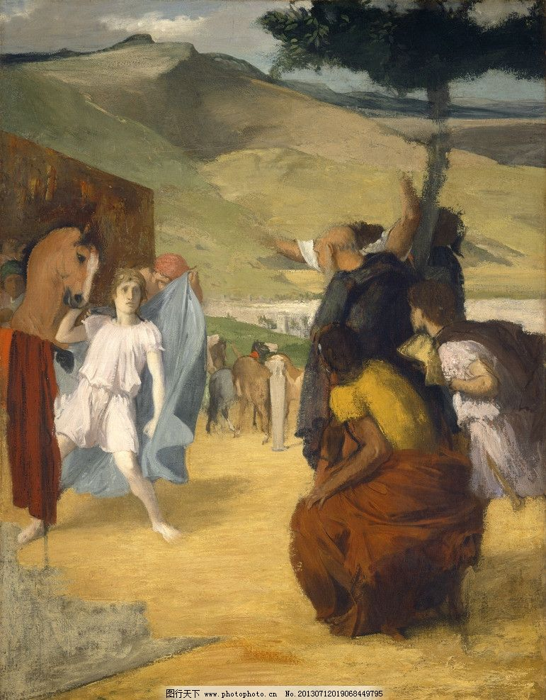 影楼摄影 儿童摄影模板  埃德加·德加作品 西方古典油画 油画