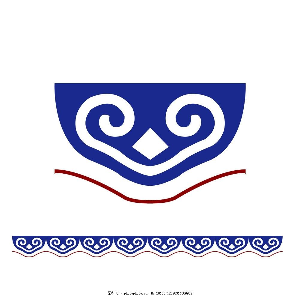 蒙古图腾 百灵庙 蒙古 图腾 书签 民族元素 花边花纹 底纹边框 设计
