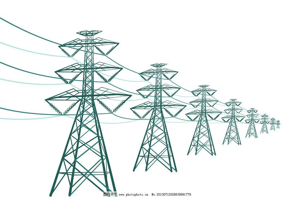 电线杆 输电塔 电塔图片图片