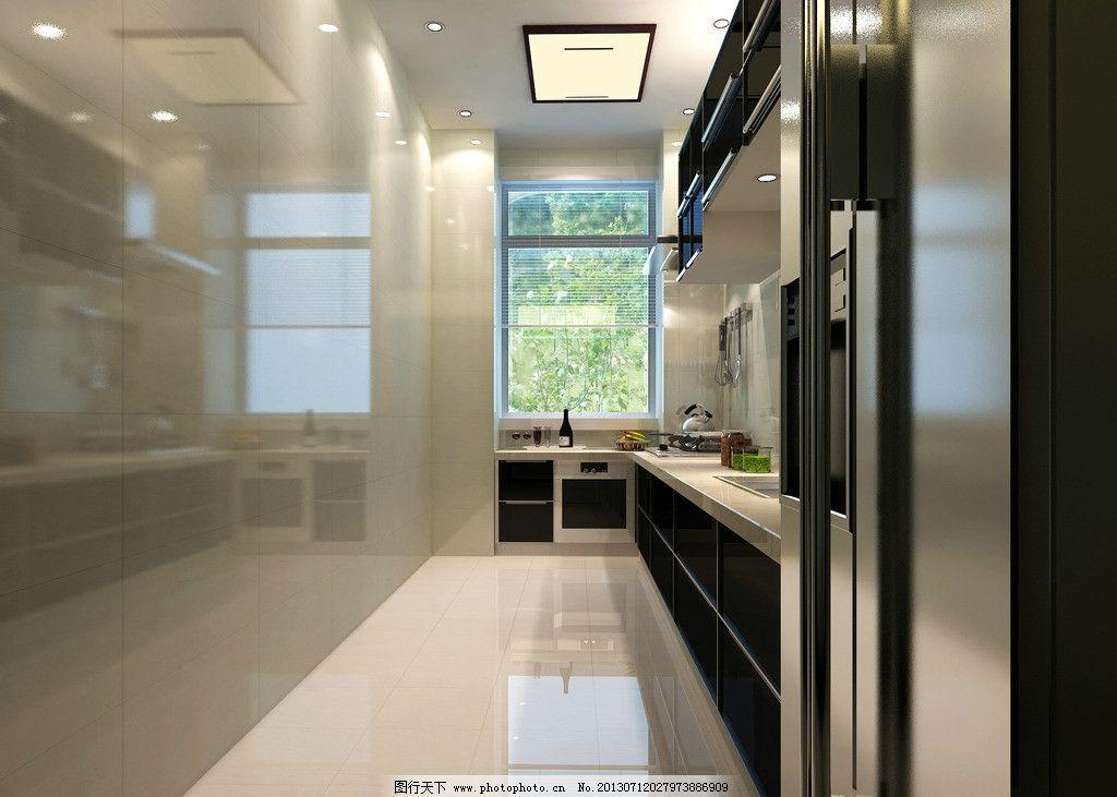 厨房效果图             立柜 厨房立柜 室内设计 环境设计 设计 72