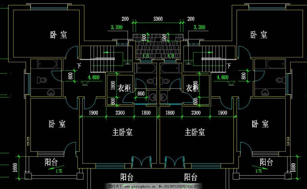 别墅平面图 图纸 装修 装饰 施工图 立面图 剖面图 室内设计
