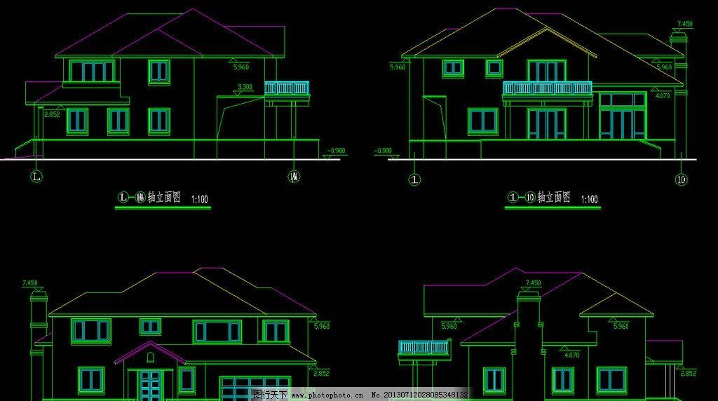 素材 装修 装饰 施工图 立面图 剖面图 室内设计 建筑设计 别墅 私宅