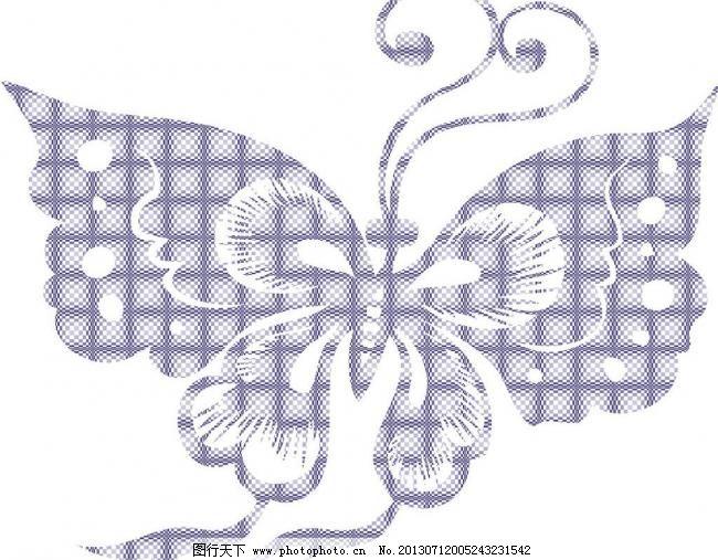 蝴蝶花纹剪纸图片免费下载 ㄎ萍糁缴杓扑夭 矢量图 花纹花边