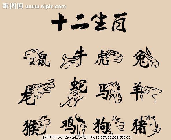 十二生肖矢量图片_传统文化_文化艺术_图行天下图库图片