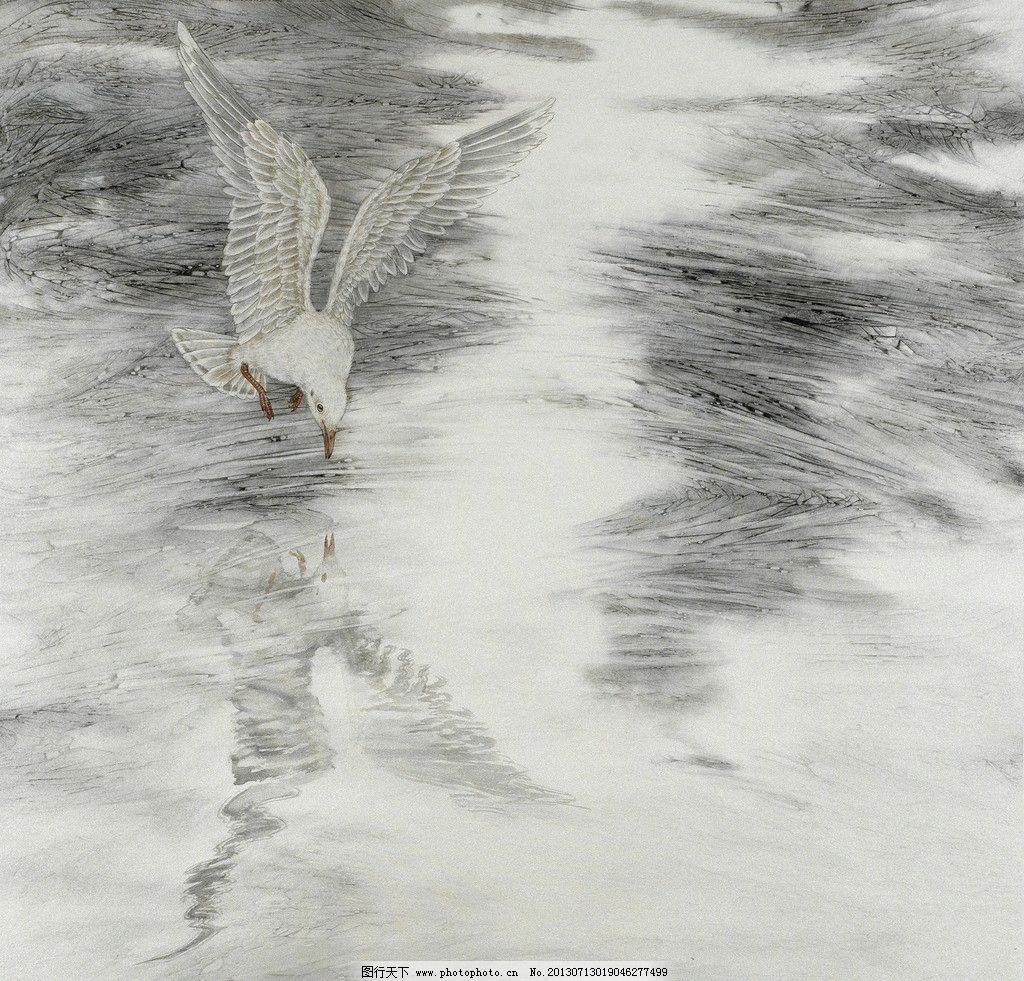 动物国画 鸟 工笔画 意境 绘画 艺术 绘画书法 文化艺术 设计 150dpi
