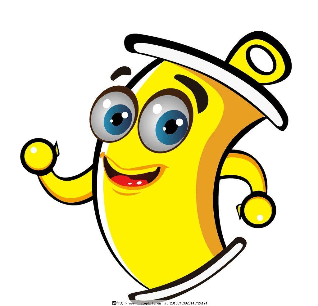 卡通形象易拉罐 卡通 易拉罐 黄色 人物 可爱 其他 标识标志图标 矢量