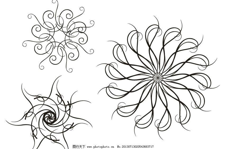 黑白手绘表现材质