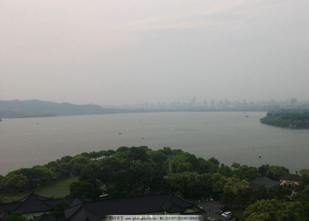 西湖 雷峰塔 杭州 湖景 青山绿水 自然风景 自然景观 摄影 72dpi jpg