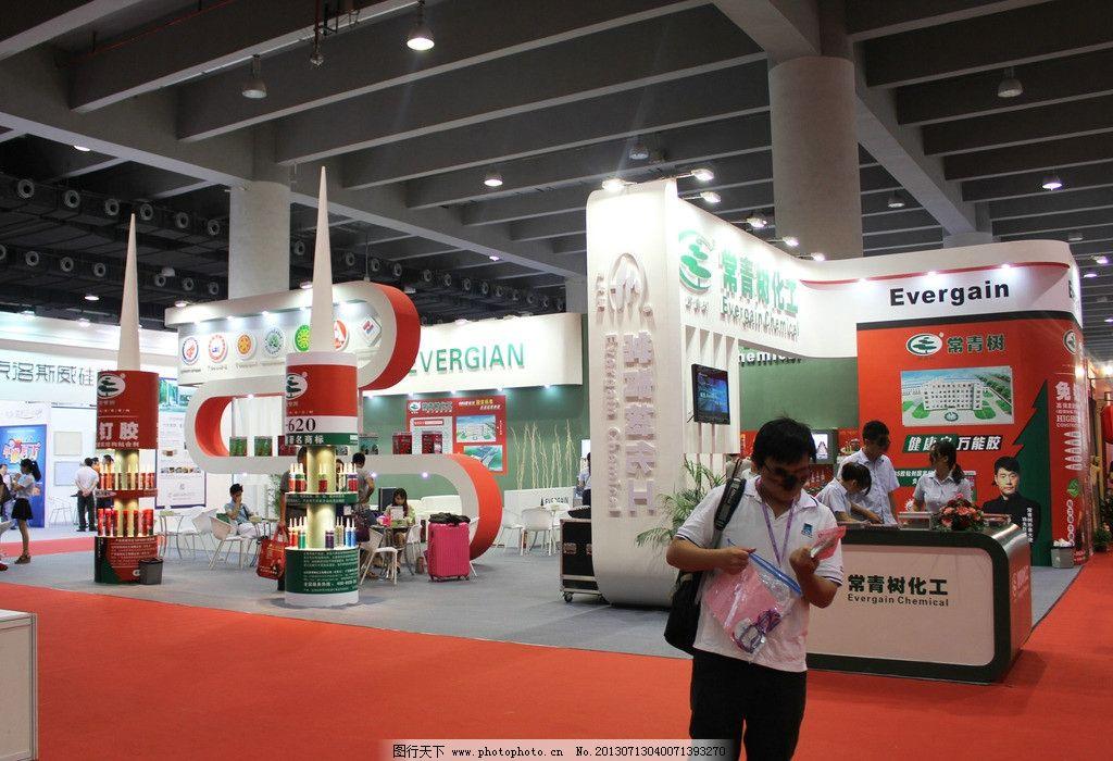 展览展位 展览 展位 红色地毯 展馆 欧式建筑 白色 绿色 大气 商务