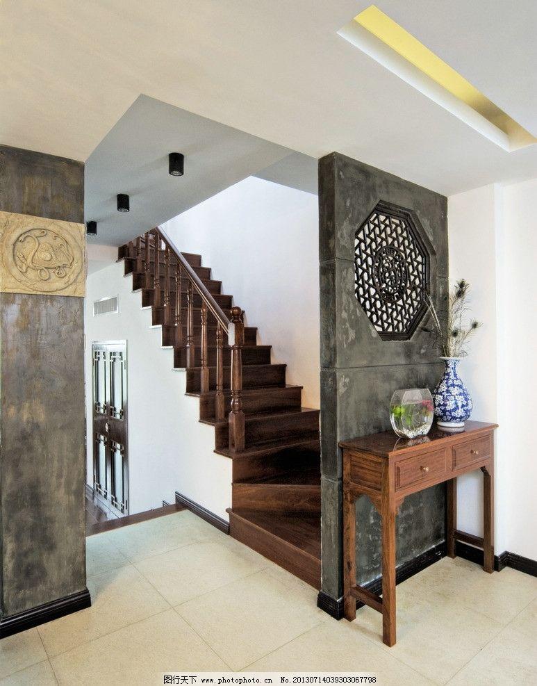 木头楼梯图片