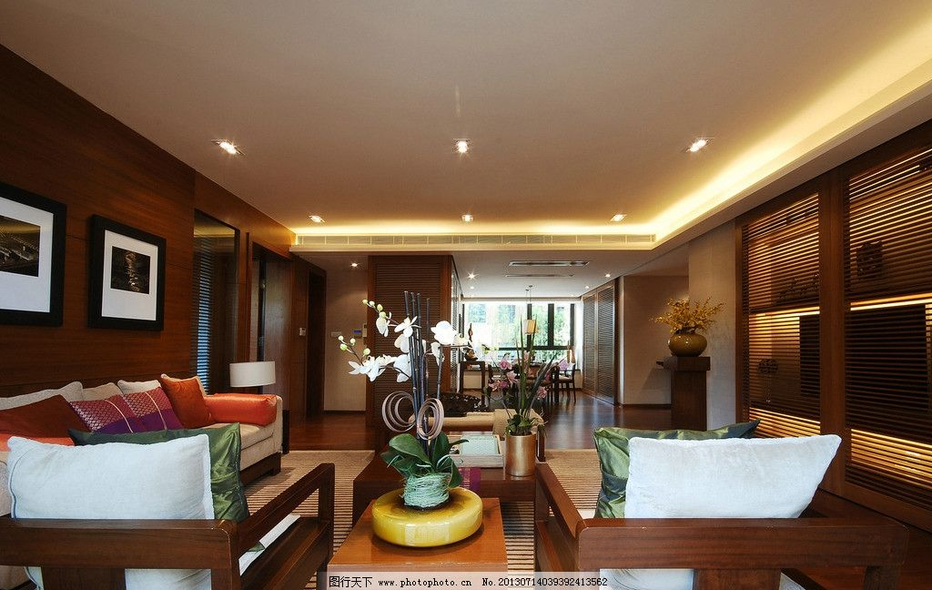 豪华红木装修客厅图片