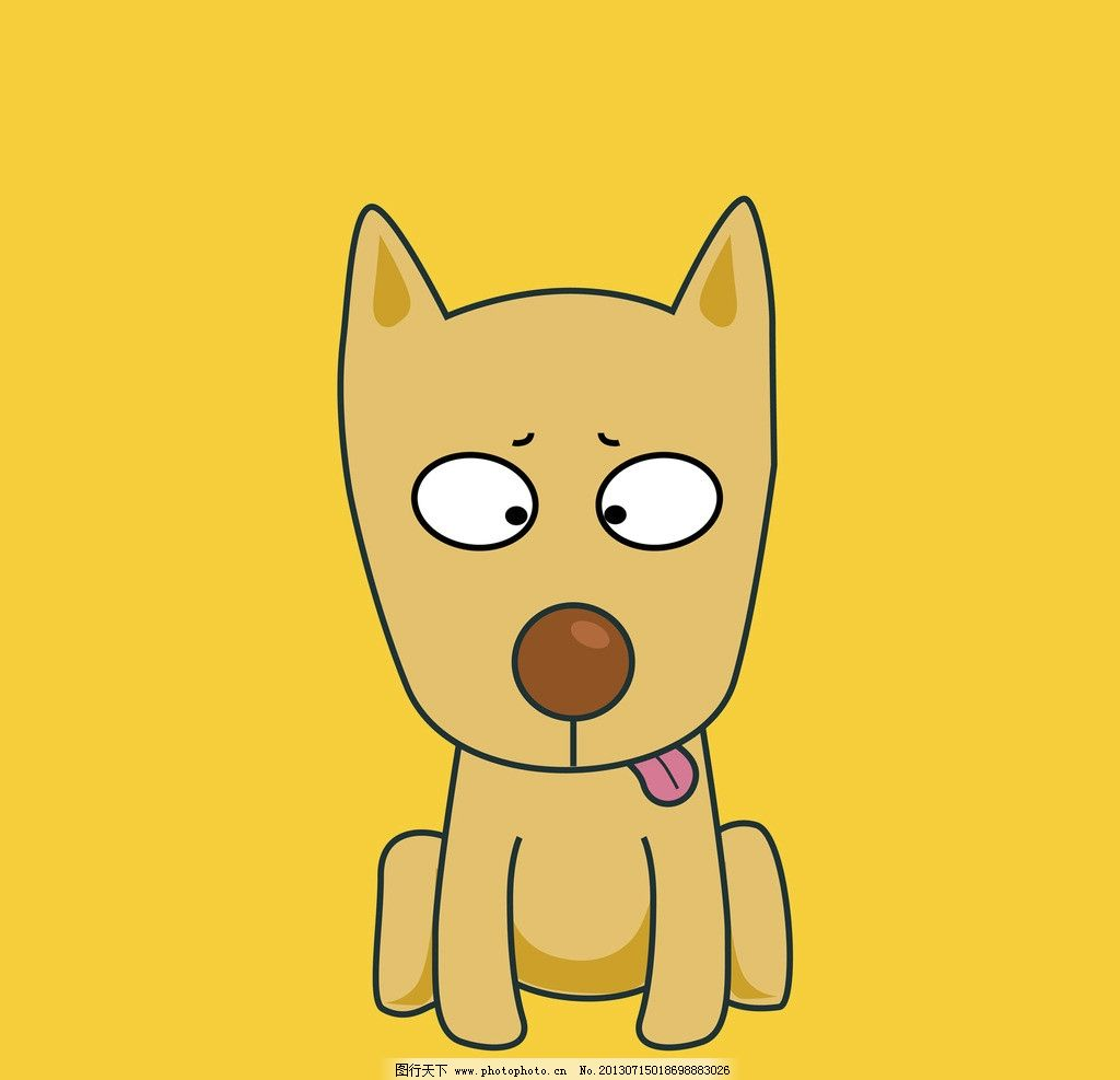 生肖狗 卡通 动漫 可爱 生肖 狗 狗年 其他 动漫动画 设计 300dpi jpg