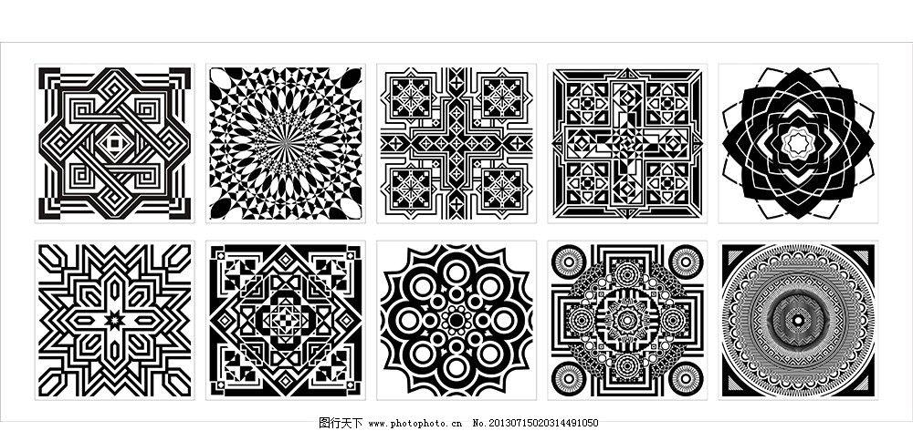 拼图 装饰图案 地砖花样 外国花纹 西式花纹 欧式花纹 花纹边框 花纹