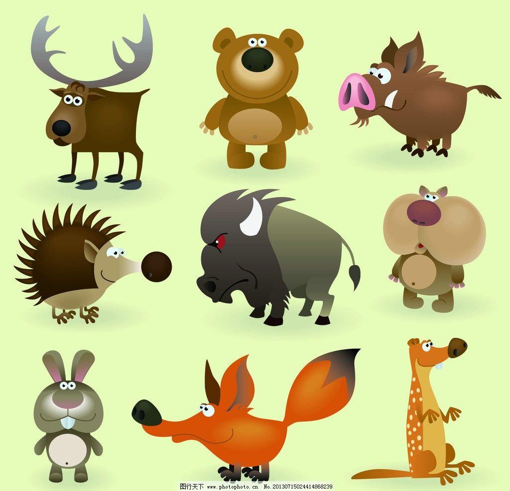 卡通动物矢量图 卡通 动物