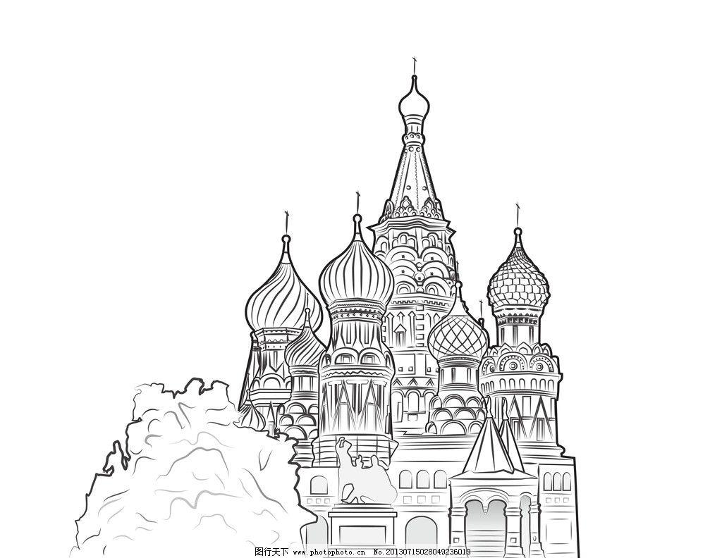 建筑设计 手绘城市建筑 钢笔画 手绘建筑 素描 复古 怀旧 白描 城市
