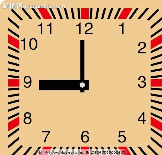 时钟 闹钟 钟表 钟 数字钟 矢量素材 其他矢量 矢量 ai
