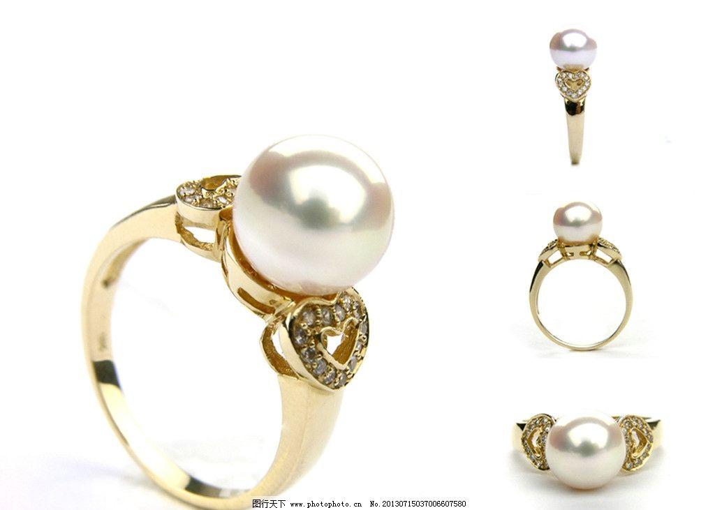 珍珠戒指图片