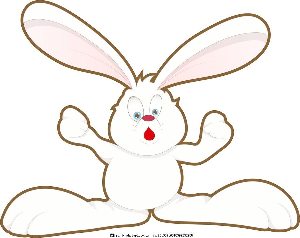 兔子简笔画 卡通人物图片展示