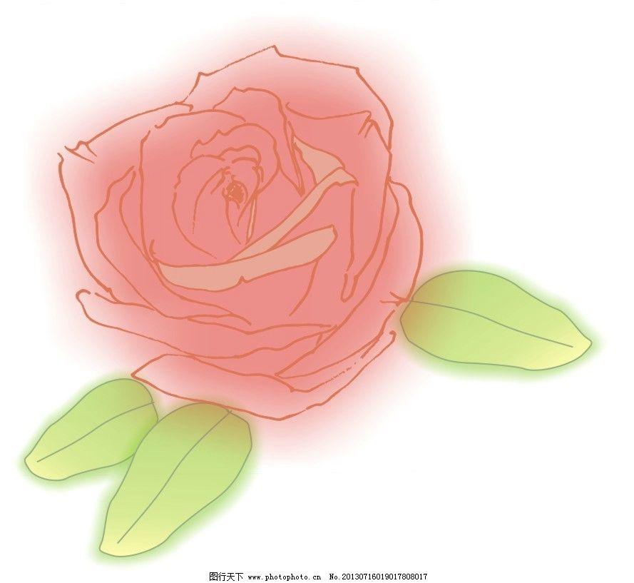 原创手绘矢量图红玫瑰图片
