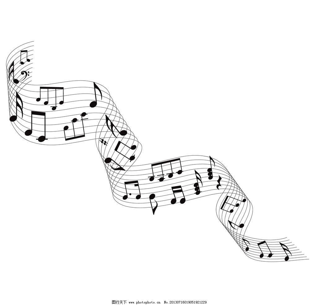 五线谱 音乐 旋律 乐章 音符 乐符 符号 曲线 花纹 艺术素材图片
