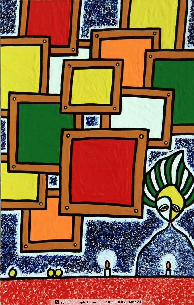 抽象画装饰画 美术绘画 手绘 创意 艺术创作 抽象艺术 无框画图片