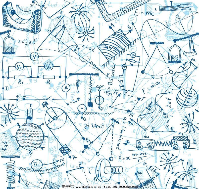 手绘数学方程式图片