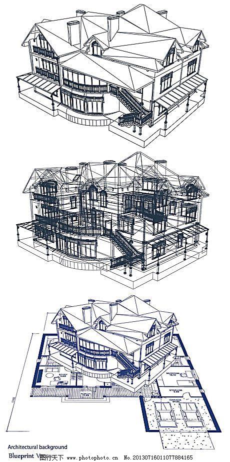手绘 透视图 建筑 线稿 平面图 施工图 手绘 工程 楼房        透视图