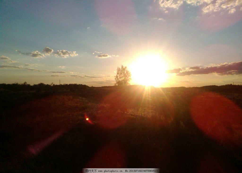 傍晚的夕阳