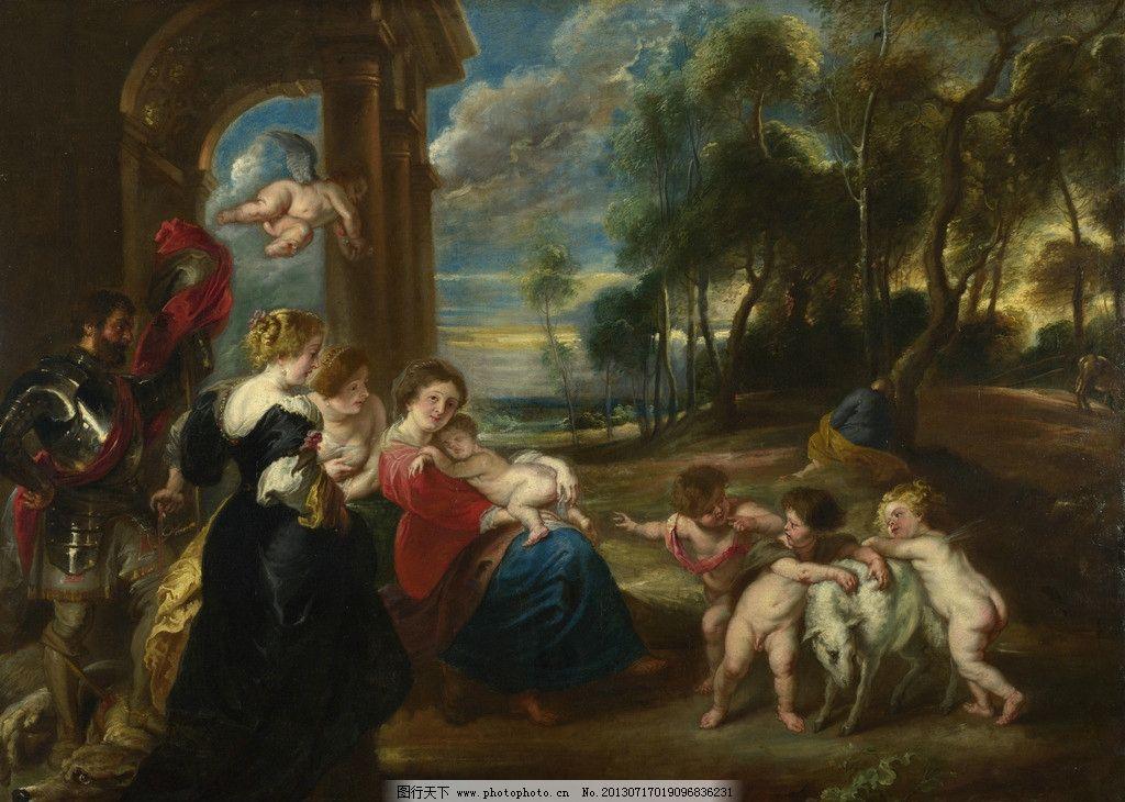 设计图库 文化艺术 绘画书法  人物油画 彼得保罗鲁本斯作品 西方古典