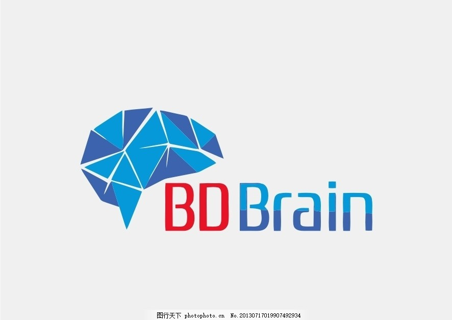 大脑logo 脑 大脑 脑结构 外国 国外 西方 欧美 西式 欧式 简洁 简单