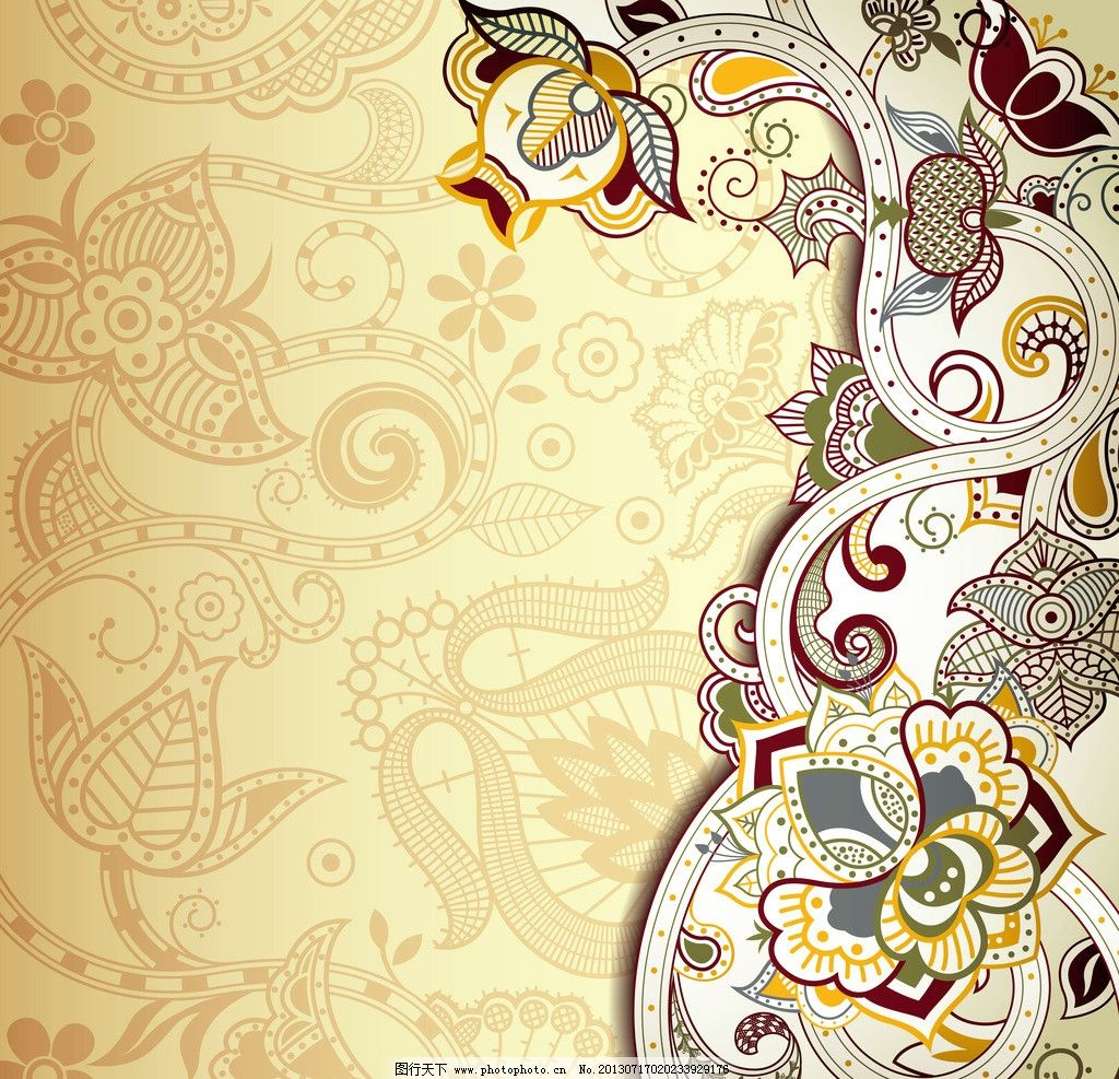 欧式花纹背景 古典花纹 传统花纹 花纹花卉 花边 装饰花纹 卡片图片