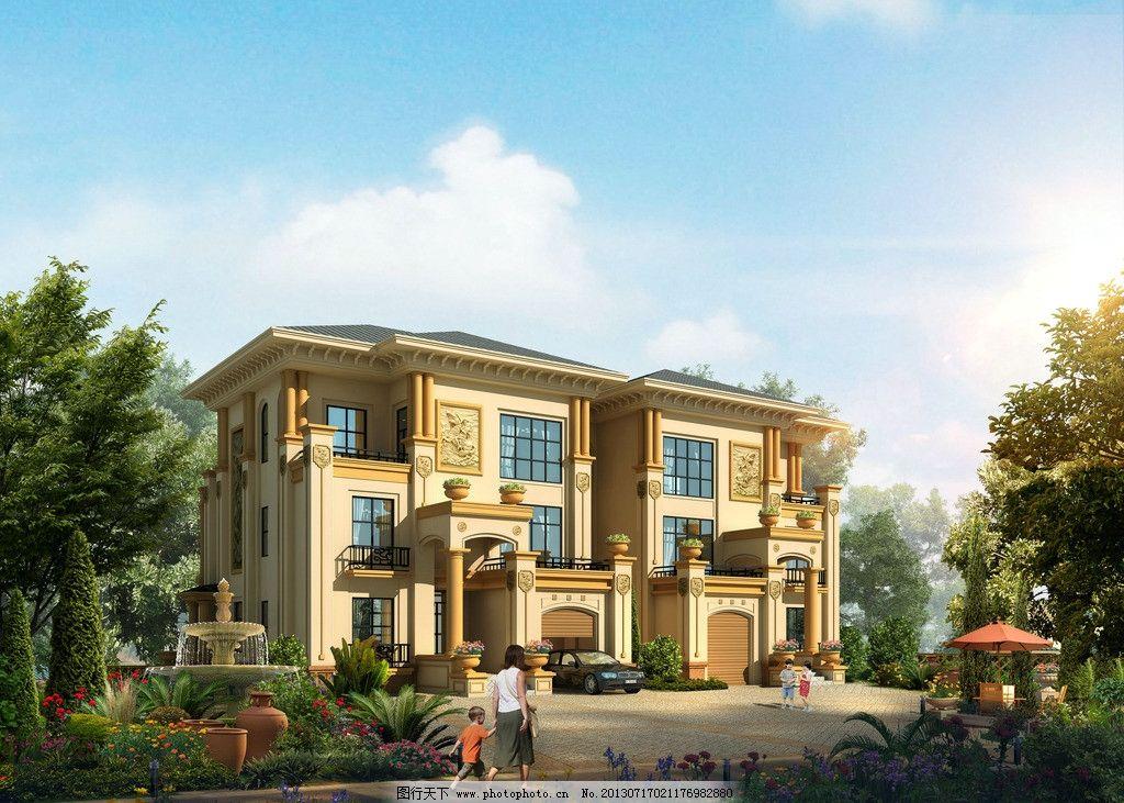 别墅外观设计 建筑设计