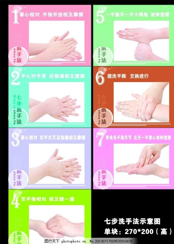 幼儿七步洗手
