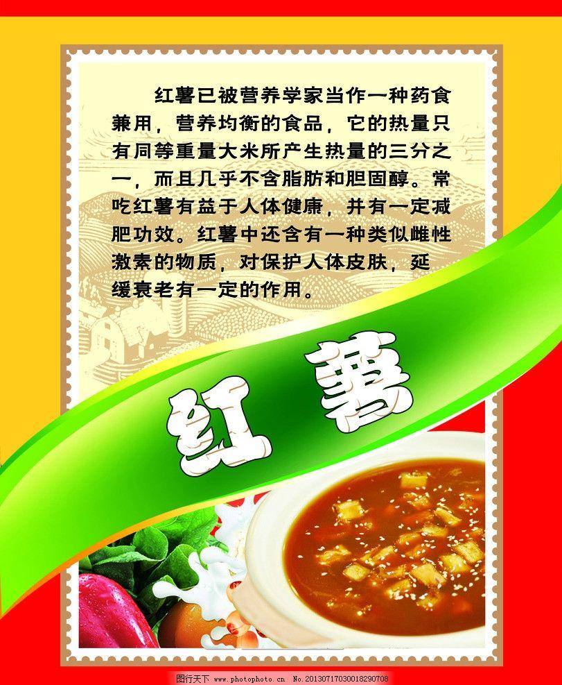 红薯 营养价值海报图片