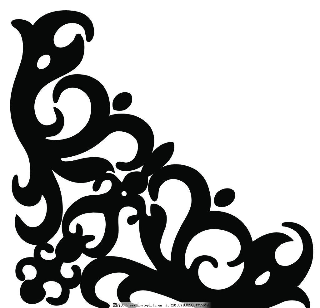 角花雕刻图片
