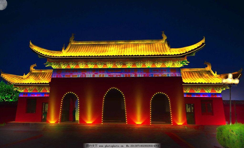 仿古建筑 景观 庙宇 洗墙灯 线条灯 亮化 建筑设计 环境设计 源文件