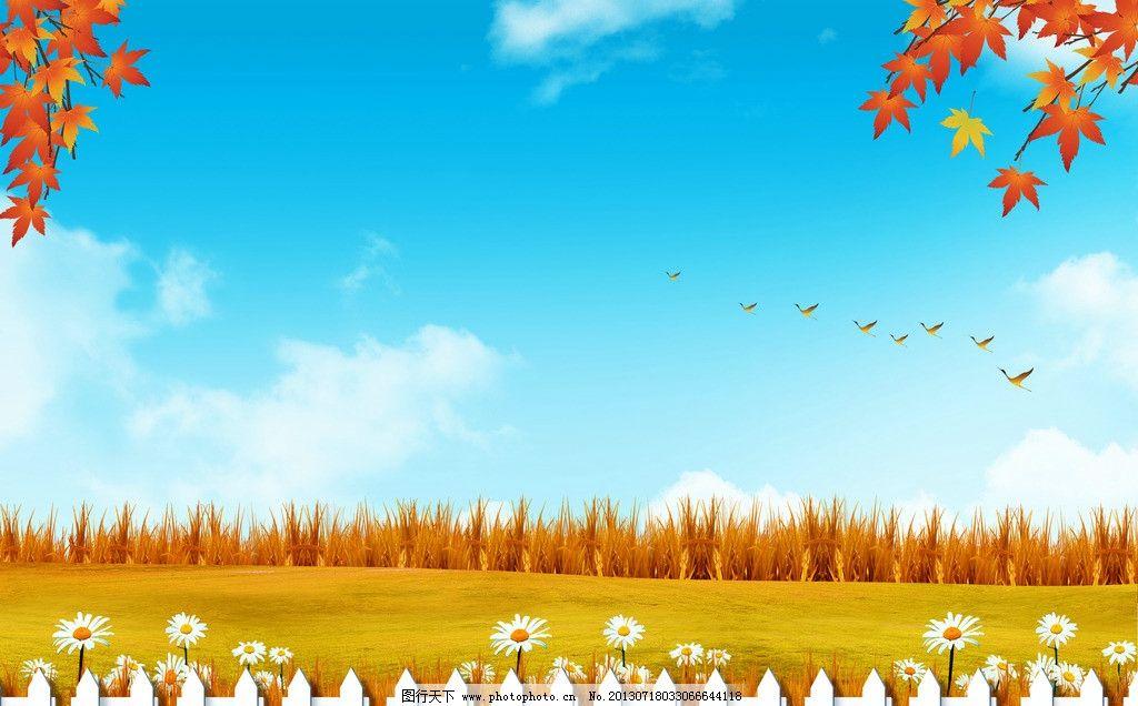 幼儿园手工制作秋天枫叶宣传栏