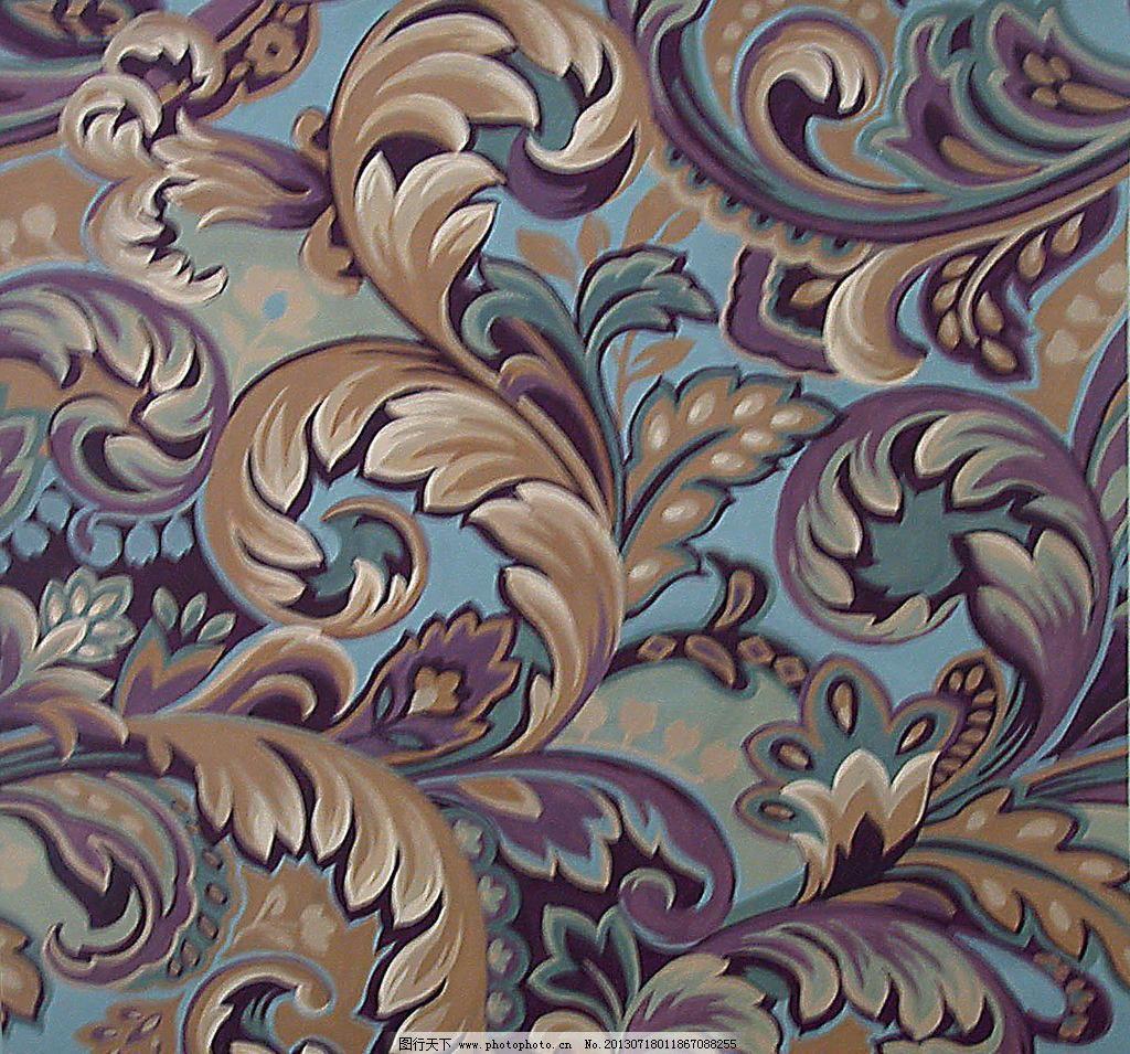 图案 服装面料 纺织品花样 底纹 底纹素材 花卉 窗帘布艺 羽毛 卷草
