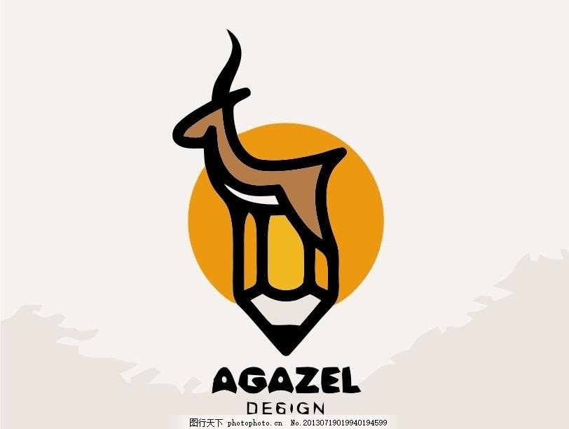 羚羊logo,外国 国外 西方 欧美 西式 欧式 简洁-图行